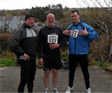 Paul, Declan and Eamon after completing Carney 10k race