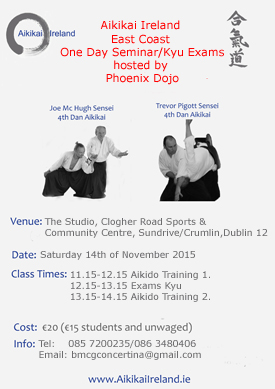 East Coast Aikikai Ireland November 2015