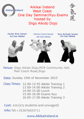 Aikikai Ireland West Coast Seminar November 2015