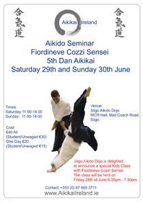 Fiordineve Sensei in Sligo June 2013